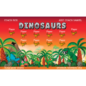 Dinosaurs Vinyl Soccer Banner E-Z Order