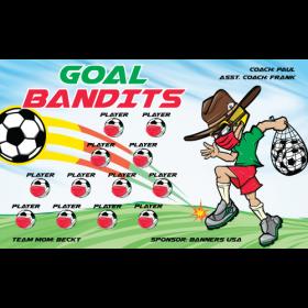 Goal Bandits Vinyl Soccer Banner E-Z Order