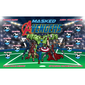 Masked Avengers Vinyl Soccer Banner E-Z Order