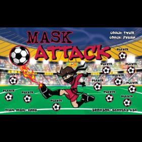 Mask Attack Vinyl Soccer Banner E-Z Order
