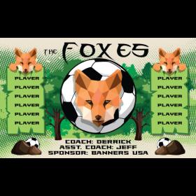 Foxes Vinyl Soccer Banner - E-Z Order