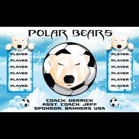 Polar Bears Vinyl Soccer Banner - E-Z Order