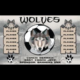 Wolves Vinyl Soccer Banner - E-Z Order