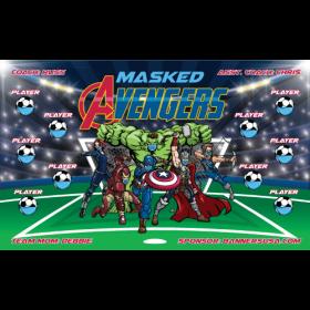 Masked Avengers Fabric Soccer Banner E-Z Order