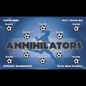 Annihilators Vinyl Soccer Banner - Live Designer