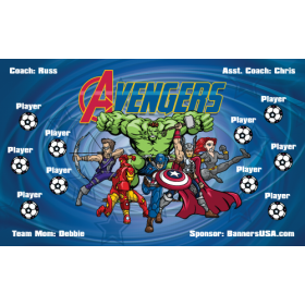 Avengers Fabric Soccer Banner - Live Designer