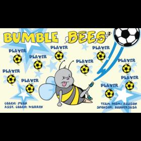 Bees Bumble Vinyl Soccer Banner Live Designer