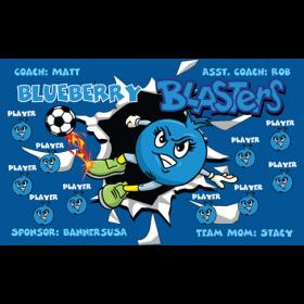 Blasters Blueberry Vinyl Soccer Banner Live Designer