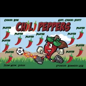 Chili Peppers Vinyl Soccer Banner - Live Designer
