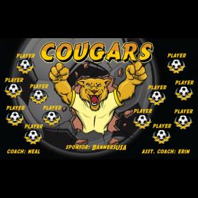 Cougars Fabric Soccer Banner - Live Designer