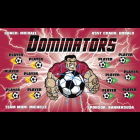 Dominators Fabric Soccer Banner - Live Designer