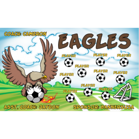Eagles Fabric Soccer Banner - Live Designer