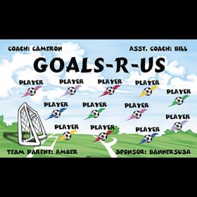 Goals R Us Fabric Soccer Banner - Live Designer