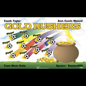 Gold Rushers Fabric Soccer Banner - Live Designer