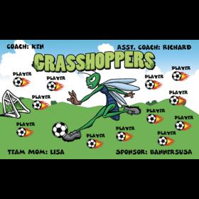 Grasshoppers Vinyl Soccer Banner - Live Designer