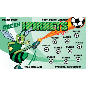 Hornets Green Vinyl Soccer Banner - Live Designer
