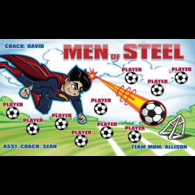 Men Of Steel Vinyl Soccer Banner - Live Designer