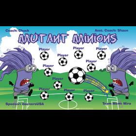 Minions Mutant Vinyl Soccer Banner - Live Designer