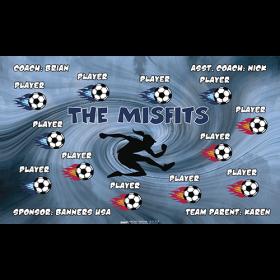 Misfits Fabric Soccer Banner - Live Designer