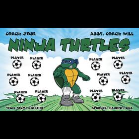 Ninja Turtles Vinyl Soccer Banner - Live Designer