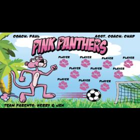Pink Panthers Vinyl Soccer Banner - Live Designer