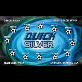 Quick Silver Vinyl Soccer Banner - Live Designer