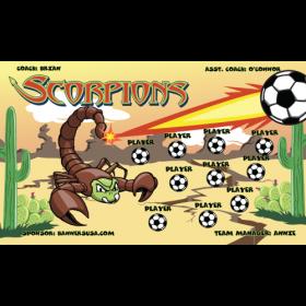 Scorpions Vinyl Soccer Banner - Live Designer