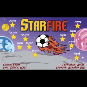 Starfire Fabric Soccer Banner - Live Designer