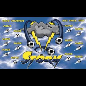 Storm Fabric Soccer Banner - Live Designer