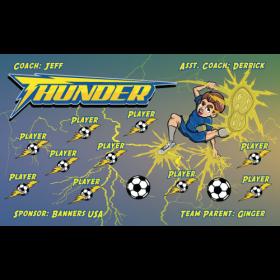 Thunder Fabric Soccer Banner - Live Designer