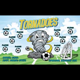 Tornadoes Fabric Soccer Banner - Live Designer