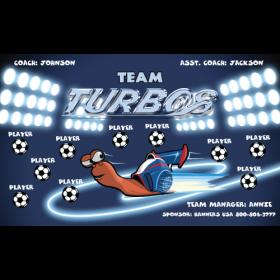 Turbo Fabric Soccer Banner - Live Designer