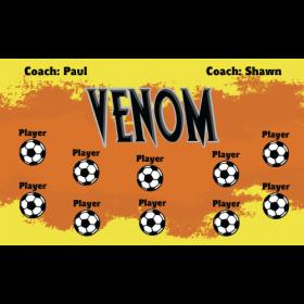 Venom Vinyl Soccer Banner - Live Designer