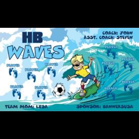 Waves HB Fabric Soccer Banner - Live Designer