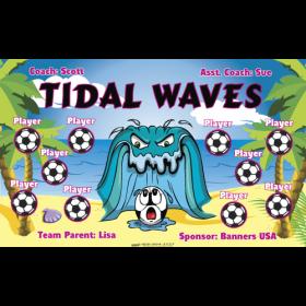 Waves Tidal Fabric Soccer Banner - Live Designer