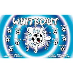 Whiteout Vinyl Soccer Banner - Live Designer