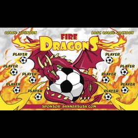 Dragons Fire Vinyl Soccer Banner Live Designer