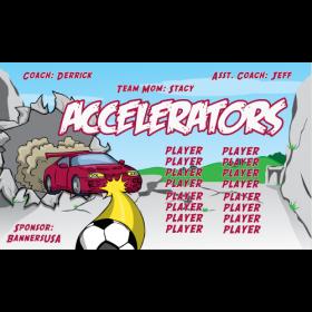 Accelerators Vinyl Soccer Banner E-Z Order