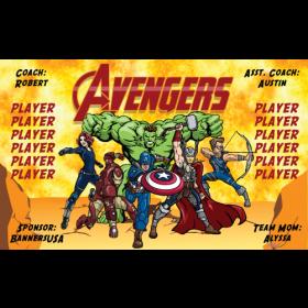 Avengers Fabric Soccer Banner Live Designer