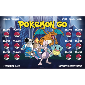 Pokemon Go Vinyl Soccer Banner Live Designer