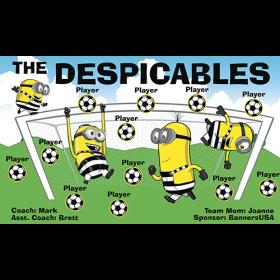 Despicables Fabric Soccer Banner Live Designer