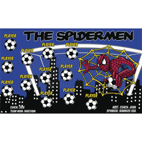 Spidermen Fabric Soccer Banner Live Designer
