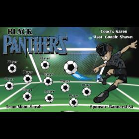 Black Panthers Vinyl Soccer Banner Live Designer