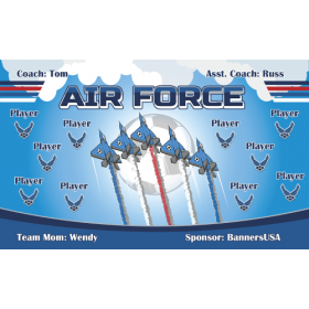 Air Force Fabric Soccer Banner Live Designer