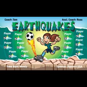 Earthquakes Vinyl Soccer Banner Live Designer