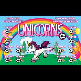 Unicorns Vinyl Soccer Banner Live Designer