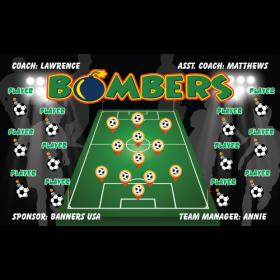 Bombers Fabric Soccer Banner Live Designer