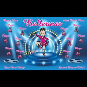 Ballerinas Fabric Soccer Banner Live Designer