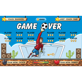 Game Over Fabric Soccer Banner Live Designer
