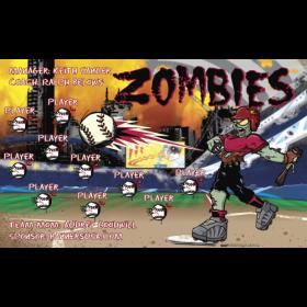 Zombies Baseball Team Banner - Live Designer